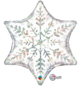 "Dazzling Snowflake 22"" Mylar Balloon"