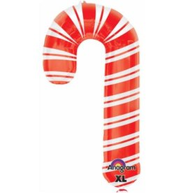 "Holiday Candy Cane 37"" Mylar Balloon"