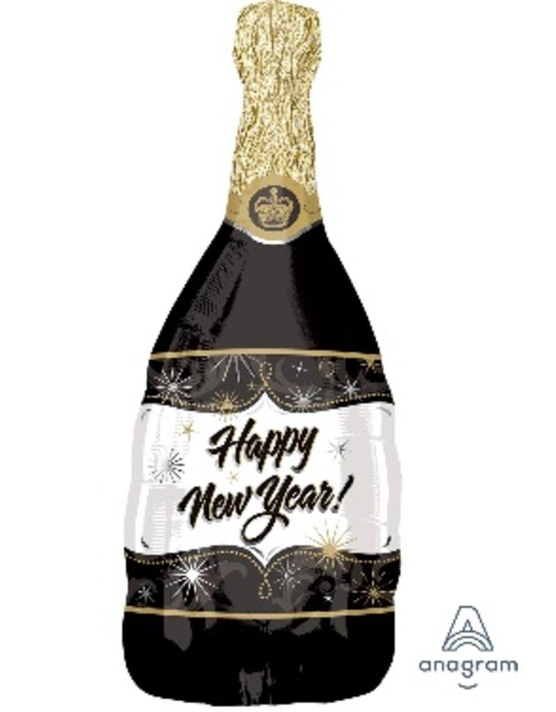 "New Years Champagne  Bottle 36"" Mylar Balloon"