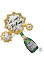 """Bubbly New Year 36"""" Mylar Balloon"""