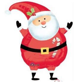 "Joyful Santa 18"" Mylar Balloon"