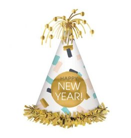 Happy New Year Cone Hat - Multi