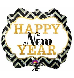 "Happy New Year Marquee 25"" Mylar Balloon"
