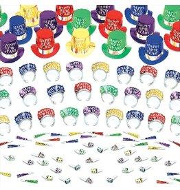 New Years Elegant Celebration Kit For 50 People Multi-Colour