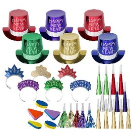 New Years Get The Party Started Kit For 25 People Multi-Colour