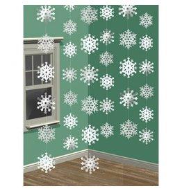 Snowflake Foil String Decorations