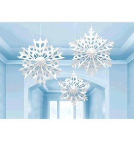 Snowflake Hanging Paper Fan Decorations