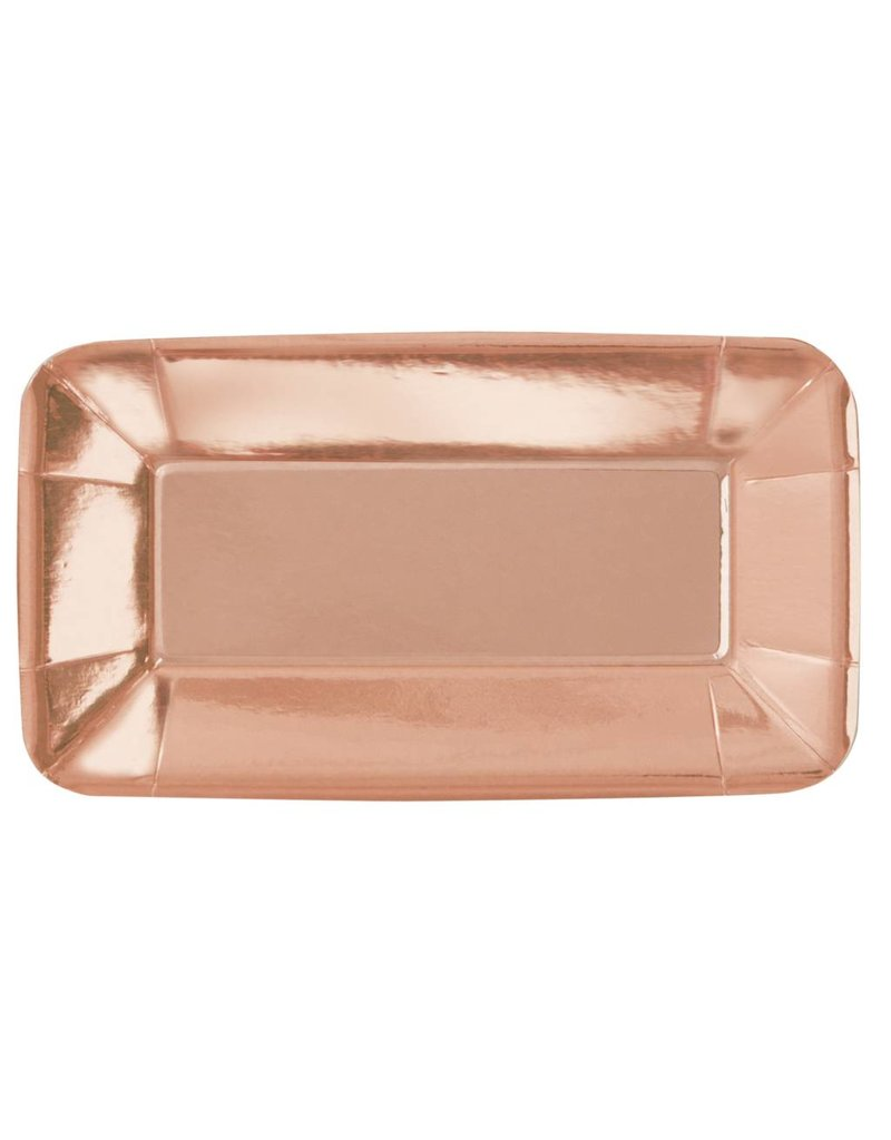 """Rose Gold Appetizer Plate 9"""" (8)"""