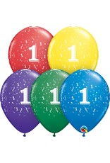 "11"" #1 Confetti Around Balloons Uninflated"