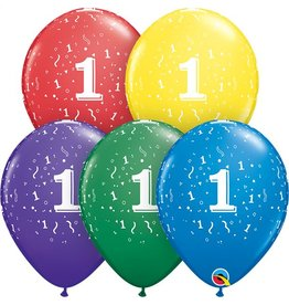 """11"""" #1 Confetti Around Balloons Uninflated"""