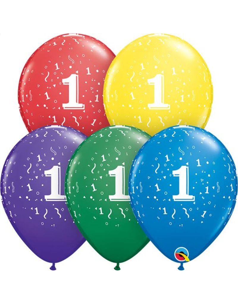 """11"""" #1 Confetti Around Balloons (Without Helium)"""