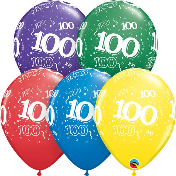 """11"""" #100 Around Balloons (Without Helium)"""
