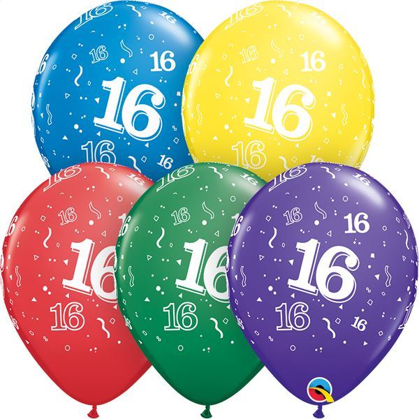 "11"" #16 Around Balloons Uninflated"