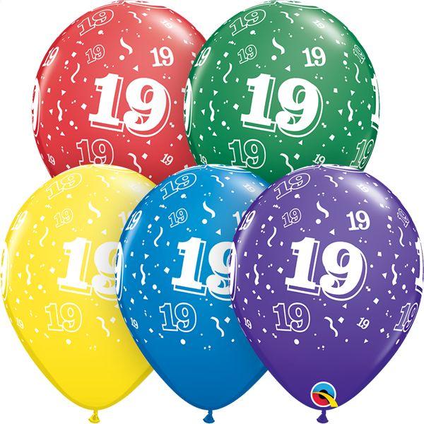 "11"" #19 Around Balloons Uninflated"