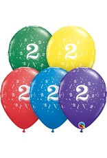 "11"" #2 Confetti Balloons Uninflated"