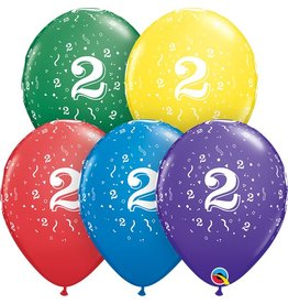 """11"""" #2 Confetti Balloons Uninflated"""