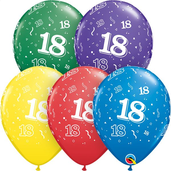 "11"" #18 Around Balloons (Without Helium)"