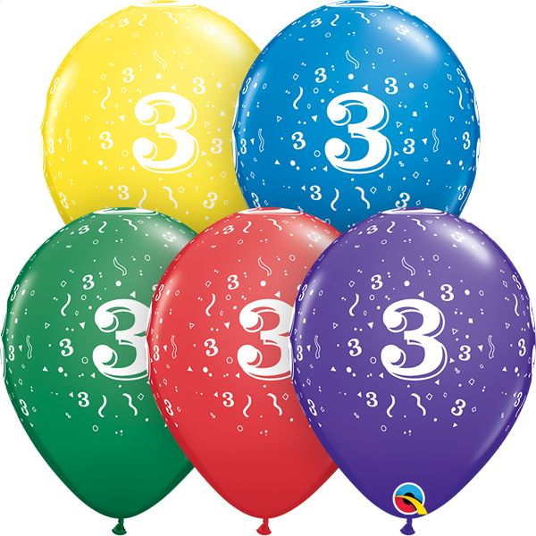 """11"""" #3 Confetti Balloons  (Without Helium)"""