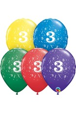 "11"" #3 Confetti Balloons  (Without Helium)"
