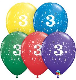 """11"""" #3 Confetti Balloons  Uninflated"""