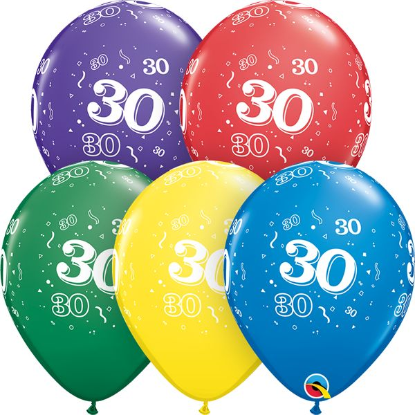 "11"" #30 Around Balloons Uninflated"