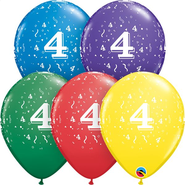 """11"""" #4 Confetti Balloons (Without Helium)"""