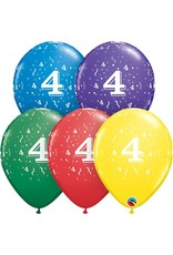 "11"" #4 Confetti Balloons Uninflated"