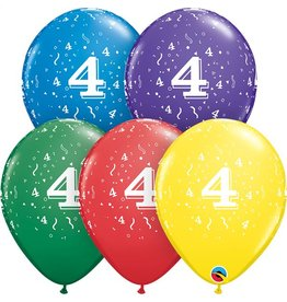 """11"""" #4 Confetti Balloons Uninflated"""