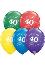 "11"" #40 Around Balloons Uninflated"