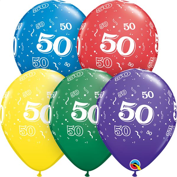 "11"" #50 Around Balloons (Without Helium)"