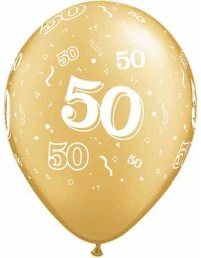 "11"" #50 Around Gold Balloons (Without Helium)"
