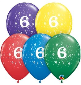 """11"""" #6 Confetti Balloons (Without Helium)"""