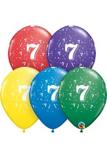 "11"" #7 Confetti Balloons (Without Helium)"