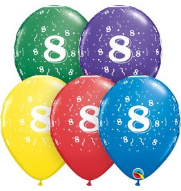 """11"""" #8 Confetti Balloons (Without Helium)"""
