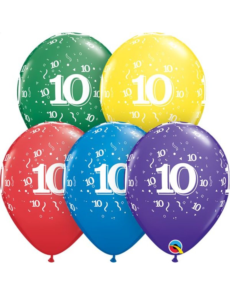"""11"""" #10 Confetti Around Balloons (Without Helium)"""