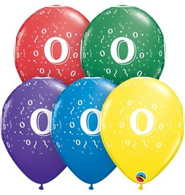 """11"""" #0 Confetti Around Balloons (Without Helium)"""