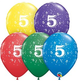 """11"""" #5 Confetti Balloons Uninflated"""