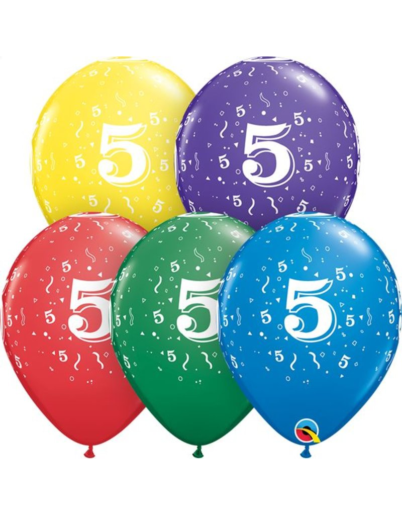 "11"" #5 Confetti Balloons (Without Helium)"