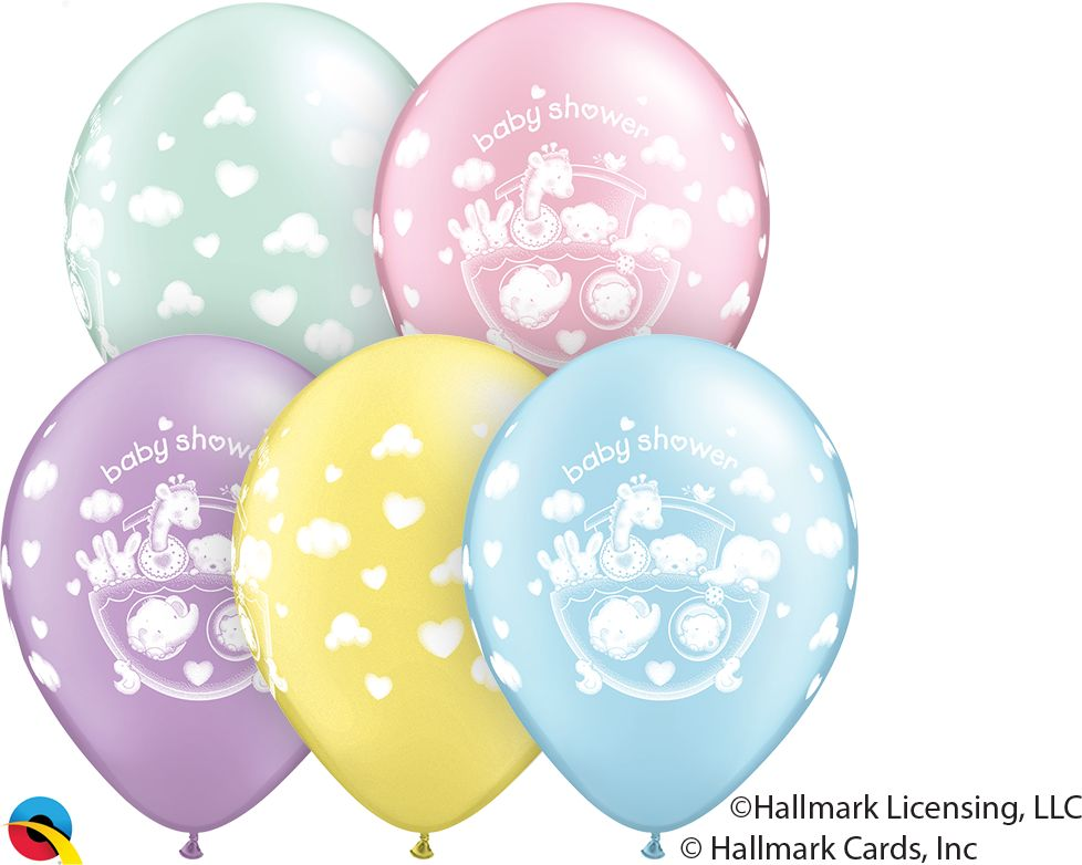 "11"" Adorable Ark Baby Shower Balloons Uninflated"