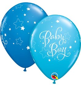 """Copy of 11"""" Baby Boy Stars Balloons (12) Uninflated"""