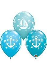 """11"""" Nautical Sailboat and Anchor Balloon Uninflated"""