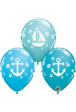 "11"" Nautical Sailboat and Anchor Balloon (Without Helium)"