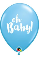 "11"" Oh Baby! Blue Balloon Uninflated"