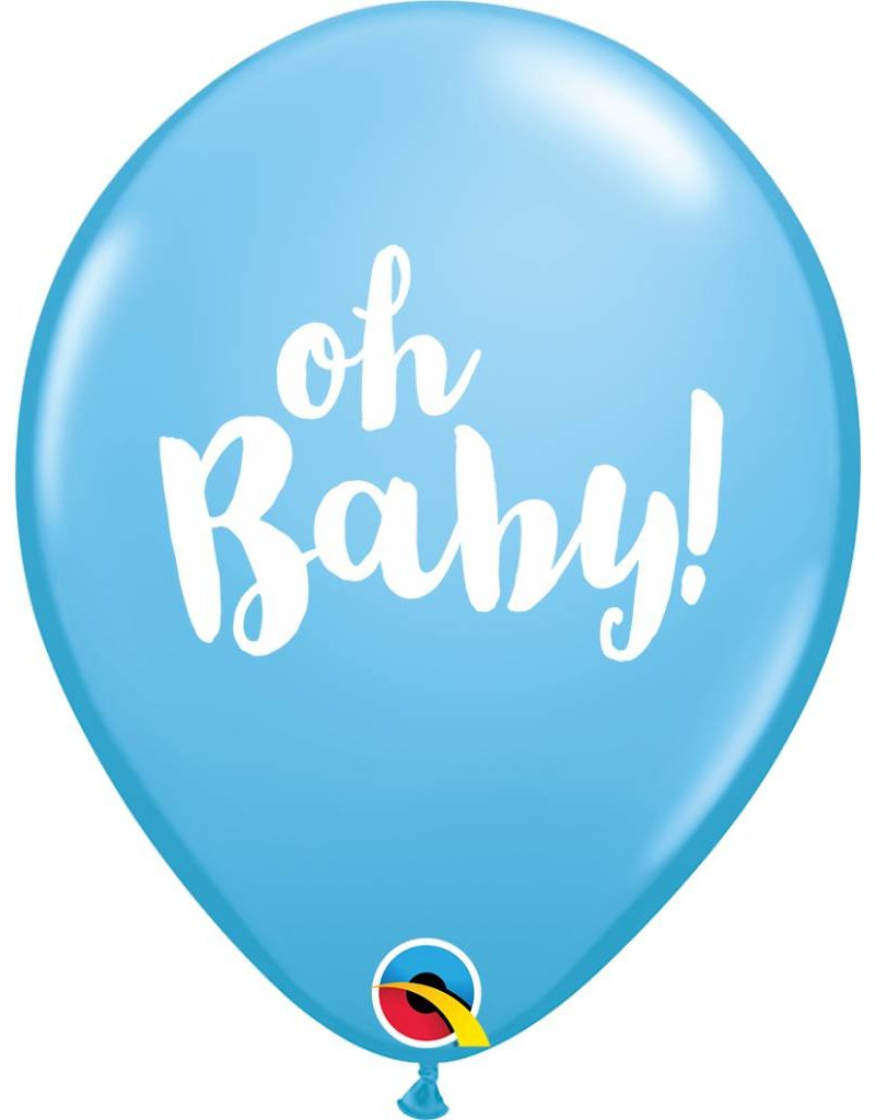 "11"" Oh Baby! Blue Balloon (Without Helium)"