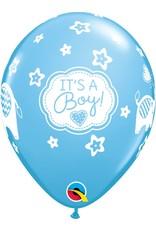"11"" It's A Boy Elephants Balloon Uninflated"