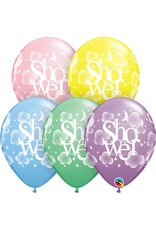 "11"" Pastel Heavenly Baby Shower Balloon Uninflated"