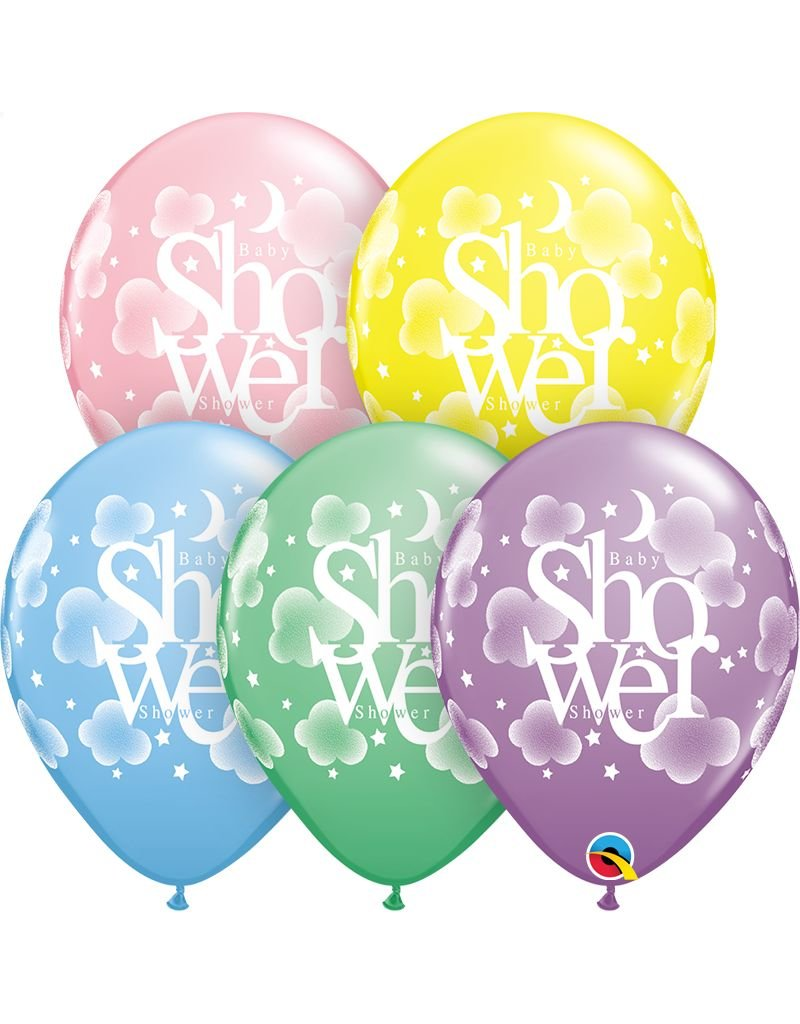 """11"""" Pastel Heavenly Baby Shower Balloon (Without Helium)"""