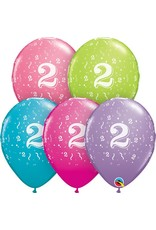 "11"" #2 Confetti Trendy Balloons Uninflated"