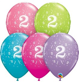 """11"""" #2 Confetti Trendy Balloons Uninflated"""
