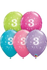 """11"""" #3 Confetti Trendy Balloons Uninflated"""